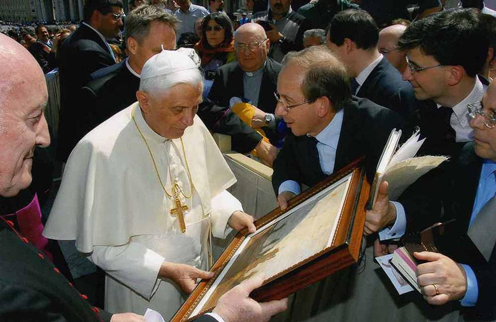 Massimo Lomi e Papa Benedetto XVI